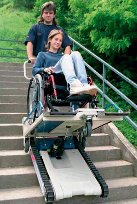 Sube escaleras Treppenkuli public-oruga móvil salvaescaleras-baja escaleras rectas-eliminar barreras arquitectónicas